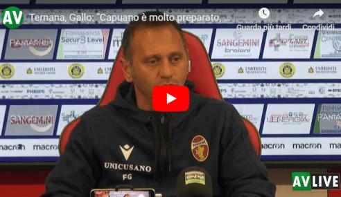 """Ternana-Avellino, Gallo: """"Capuano allenatore preparato"""" (Video)"""
