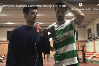 Olimpica Avellino-Casarano Volley 1-3: le dichiarazioni di Vetrano post partita (Video)